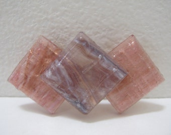 Glass Brooch Pink Purple Fused Glass Brooch Glass Jewelry Glass Pin Mosaic Brooch Woman Gift Idea One Of A Kind