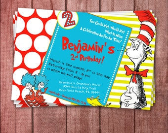 Dr. Seuss The Cat in The Hat Invite - Printable
