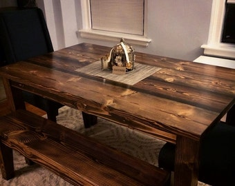Perfect Solid Wood Farmhouse Table Farmhouse Dining Table