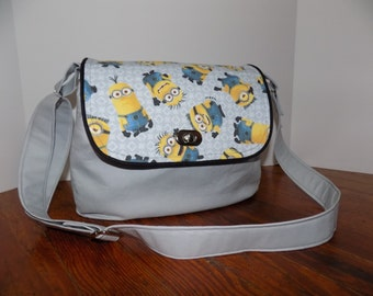 Primrose Satchel Crossbody Bag; Grey; Minions