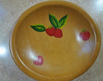 Strawberry Wooden bowl