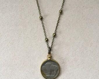Buffalo Nickel Necklace - Satellite Chain