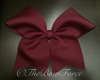 "3"" Solid Maroon Hair Bow #252509324"