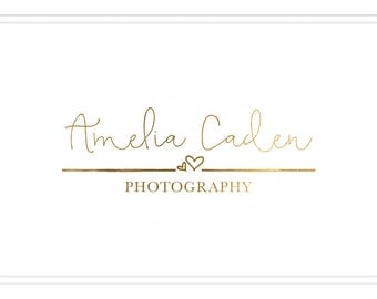 Premade Photography Logo + Watermark with Hearts - L014