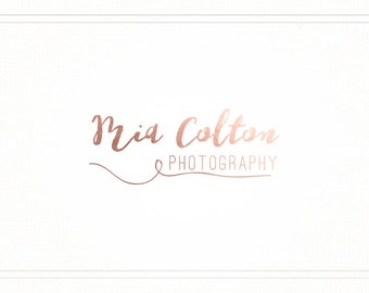 Premade Photography Rose Gold Handwritten Logo + Watermark - L100