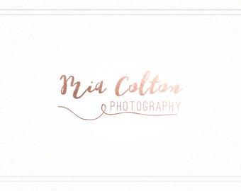 Premade Photography Rose Gold Handwritten Logo + Watermark - L100