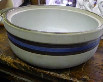 Round stoneware casserole baker (no lid)