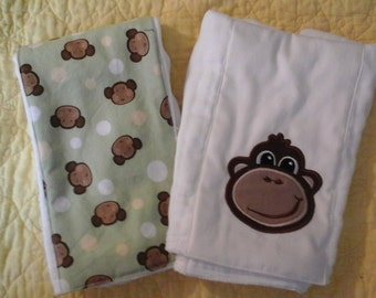 Monkey Burp Cloths for the Newborn