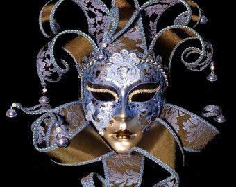 3D Wall Art, Venetian Mask, Masquerade Ball Mask, Original Collage Artwork, Exotic Carnival Mask, 3D Costume Mask, Art Deco Style Mask