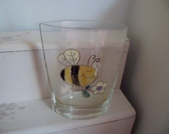 Bee and Flower Vase