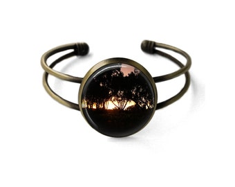 Winery Sunset Cuff Bracelet