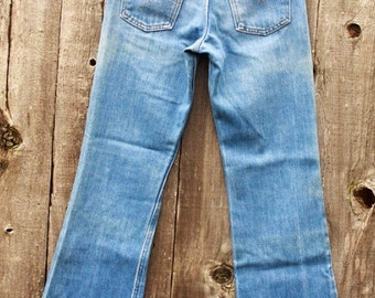 LEVIS Vintage bell bottom jeans 70's high waisted orange tab size 25