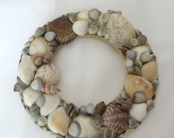 Seashell wreath or candle ring _beach decor