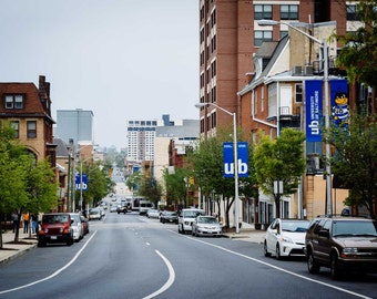 Maryland Avenue, in Midtown-Belvedere, Baltimore, Maryland.   Photo Print, Stretched Canvas, or Metal Print.