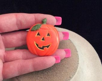 Vintage Signed Hallmark Cards Pumpkin Halloween Pin