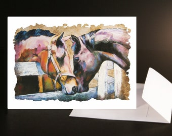 HOWDY PARTNER *** Note Cards***   Set of 5 Cards & Envelopes from Original Pastel Painting - Hand Signed by Artist, C. Sonnenberg