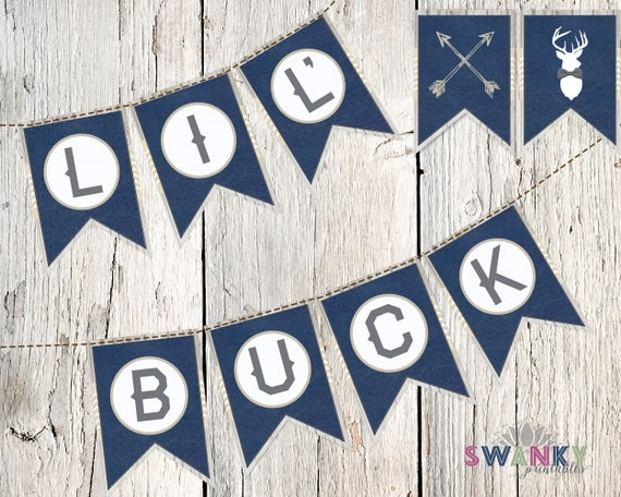 rustic baby shower lil 39 buck banner deer baby shower decorations