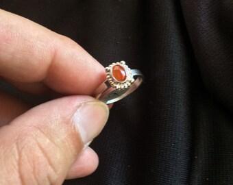 Carnelian .925 Sterling Silver Ring size 9