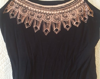 Upcycled Henna Inspired Bleach Camisole