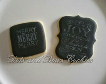 Christmas Chalkboard Cookies