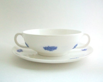 Periwinkle Soup Cup, Adderley's Soup Cup, Adderley's Soup Bowl, Vintage Soup Cup, Blue Soup Cup, Blue Soup Bowl, Blue & White Soup Cup