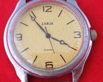 ZARYA Vintage Soviet Working wrist watch SERVICED k066