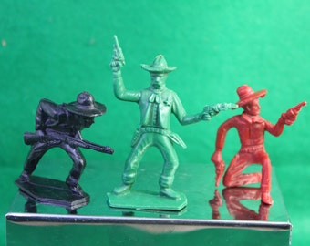 Vintage 1950's TIM MEE Toys Trio of Action Western Cowboys