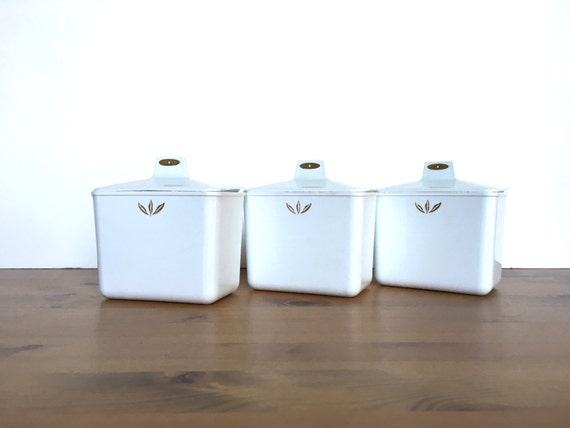 Vintage refrigerator containers set of GE plastic fridge canisters
