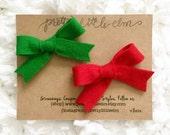 Red Ellis Clip - Pretty Little Elm - Baby Girl Clip - Hair Bow Clip