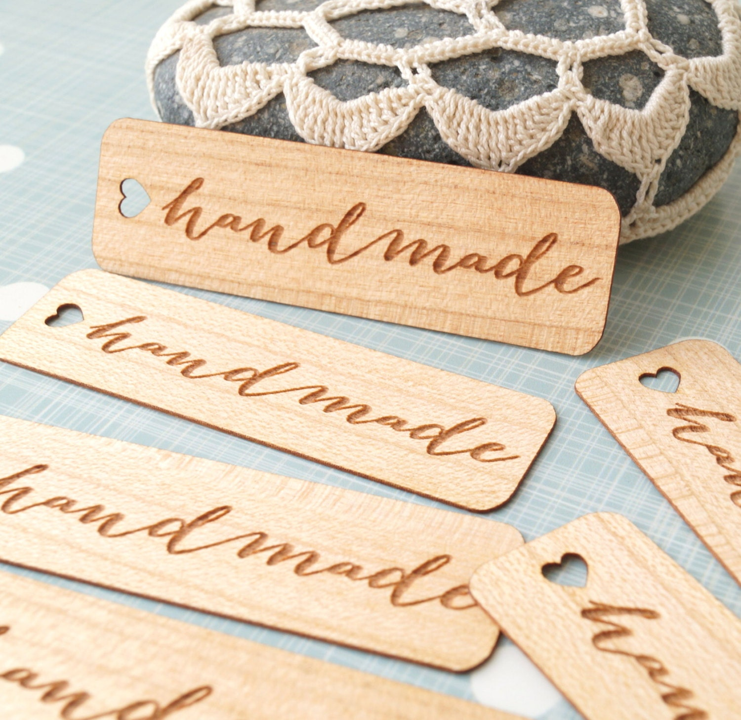 Handmade tags wooden veneer tags craft tags thank you tags for Custom tags for crafts