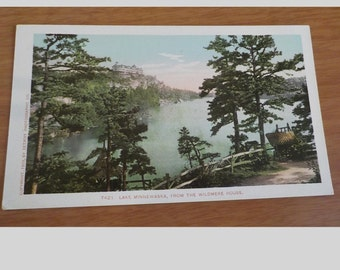 Vintage ORIGINAL Lake Minnewaska From The Wildmere House New York  Postcard Free Shipping