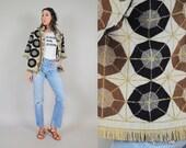 70s terry cloth FRINGE jacket