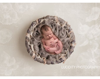 Beautiful Digital Newborn Photography Prop (Newborn Nest Mink) ***For a limited time the floor drop is already added!***