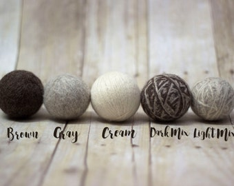 Wool Dryer Balls - 100 Percent Wool - Laundry - Reusable - Unscented - Ecofriendly