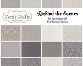 SALE!! Charm Pack - Behind the Scenes by Jen Kingwell - Moda Fabrics - (18110PP)