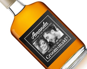 Groomsmaid - Groomsmaid Gift - Groomsmaid Liquor - Custom Liquor Label - Ask - Best Woman Label - Best Woman Gift - Cant Say I Do