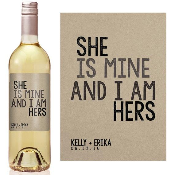 Gay Wedding Wine Label Custom Wine Label Personalized Wine