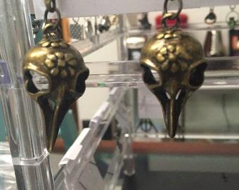 Steampunk skull earrings