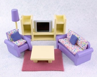 Living Room Dollhouse Furniture Set