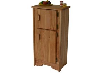 Natural Wooden Toy- Kitchen Icebox/Refrigerator-Waldorf play kitchen-Montessori wooden toy-Child's Kitchen-Hardwood-play-kitchen