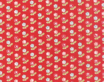 1/2 yard VINTAGE PICNIC by Bonnie and Camille for Moda Fabrics Floral Rosie Red