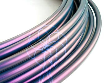 """Polypro Hula Hoop 5/8"""" Color Shifting Raven- Collapsible for Travel- Push Pin Connection-Sizes 18""""-36"""""""