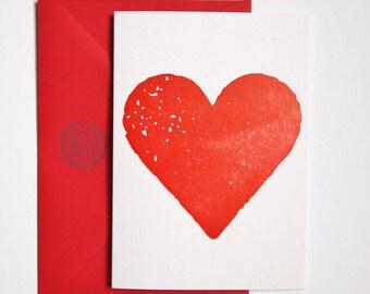 Big Heart letterpress card