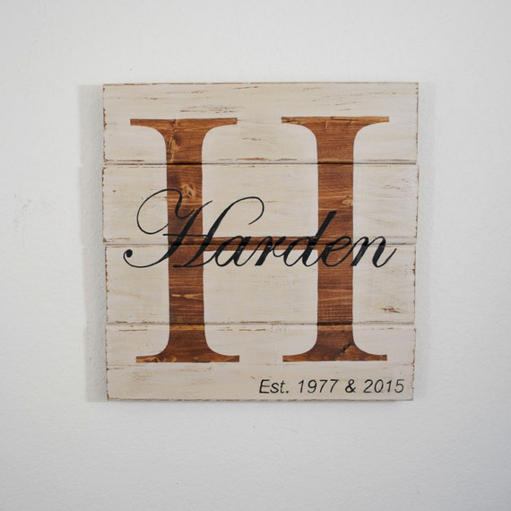 Distressed Wood Pallet Family Sign