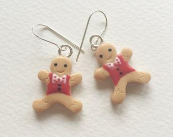 Happy Gingerbread Man Earrings