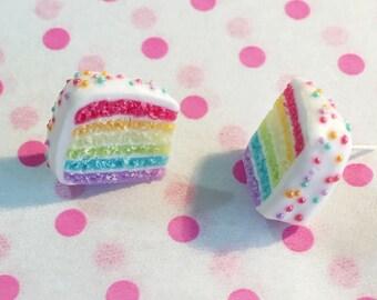 Rainbow cake studs