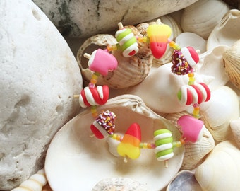 Summer lollipop stretch bracelet