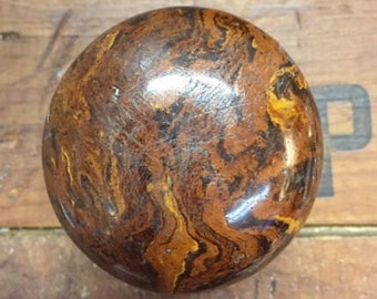 Bennington Door Knob Antique Brown Swirl Porcelain
