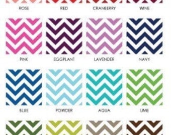 Chevron , Polka dot, or any one pattern crib bumper pads with ties or rail guards with ties starting at...