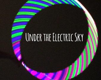 BEST SELLER~~~Under the Electric Sky--- Custom High Intensity Reflective Polypro Hoop